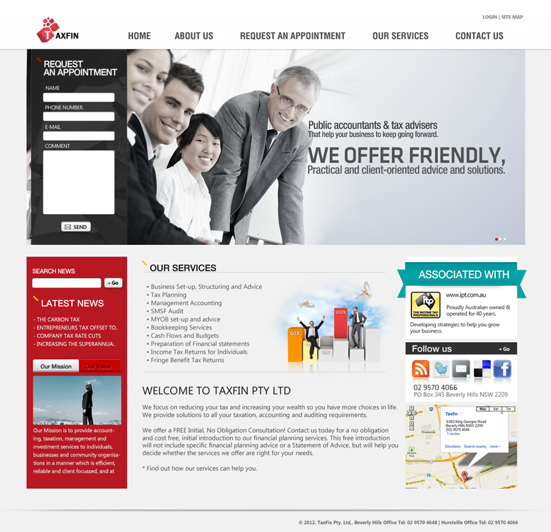 Taxfin, Tax Office Website